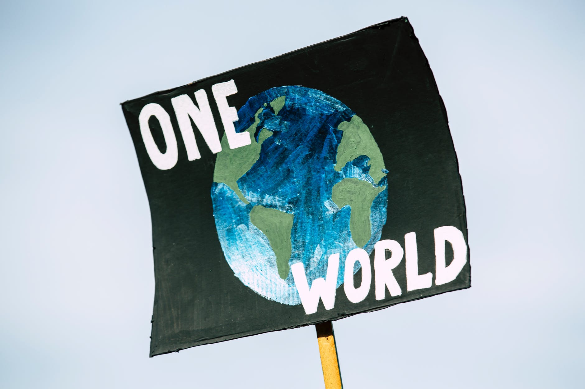 earth blue banner sign